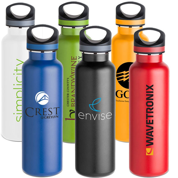 custom water bottles yeti promotional items trade show giveaways